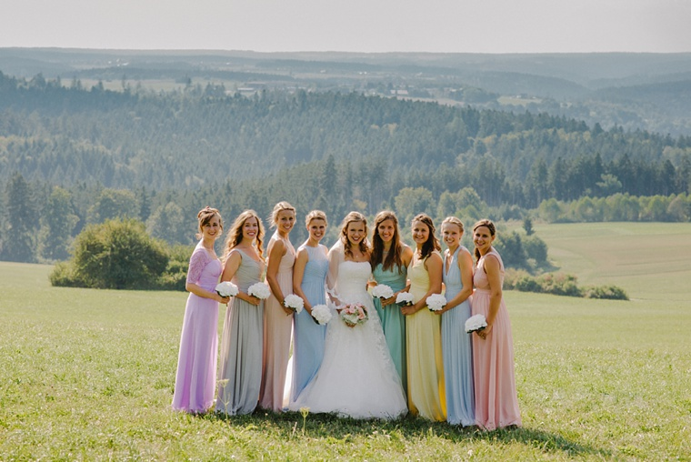Bridesmaid portrait in the German Black forest