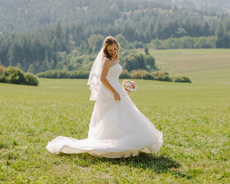 German bride in the black forest