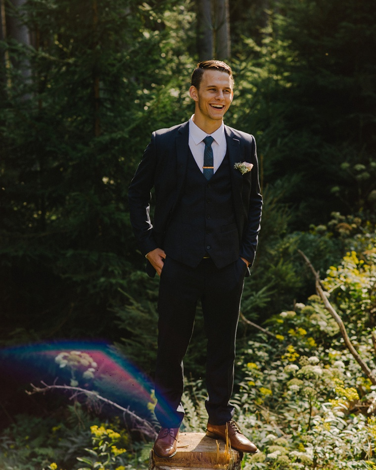 groom in the black forest