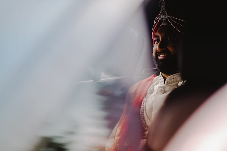 unique portrait of indian groom in vancouver