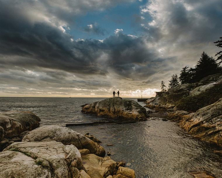 best lighthouse park engagement portraits