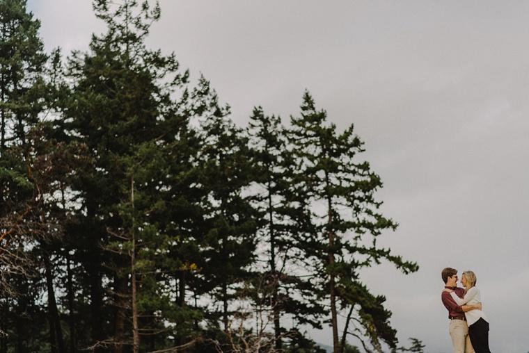 unique vancouver forest engagement portraits