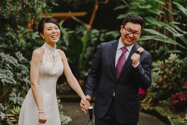 wedding ceremony at bloedel conservatory