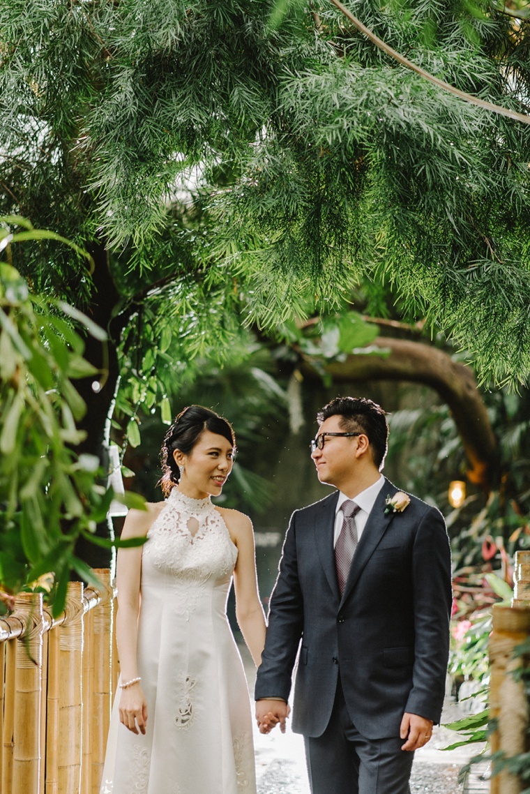 wedding at vancouver conservatory