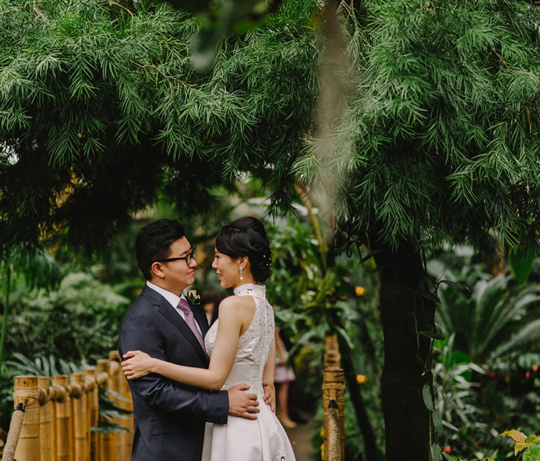 wedding portrait at bloedel conservatory in vancouver