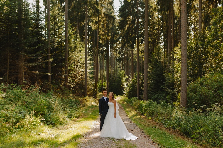 wedding portrait in the black forest of germany