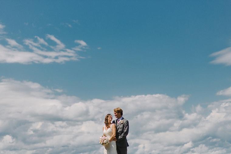 wedding portrait taken in harsh lighting
