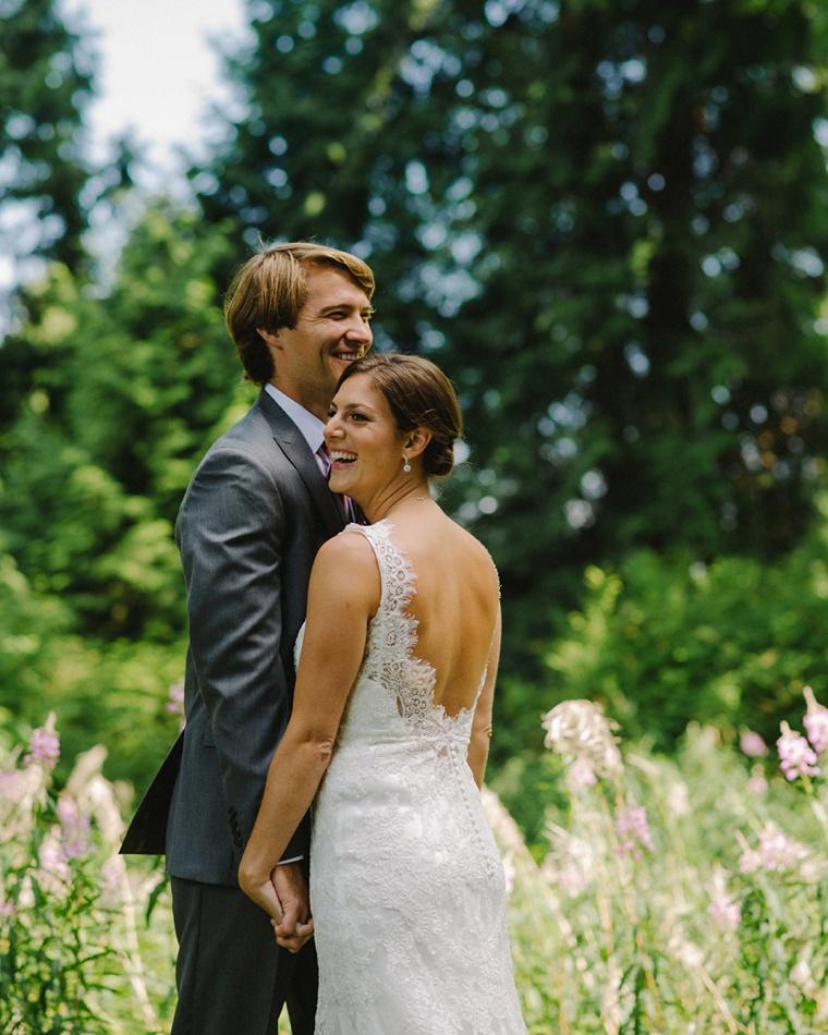 Candid vancouver wedding portrait