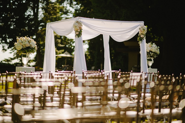 Wedding ceremony at Shaughnessy golf club in vancouver