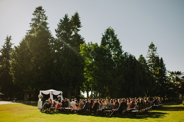 outdoor wedding at a vancouver golf club