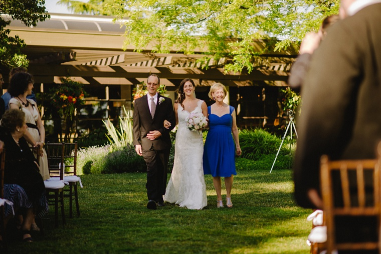 outdoor wedding ceremony at shaughnessy golf and country club