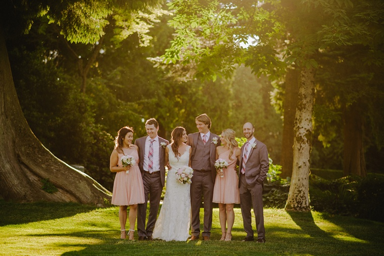 bridal party photo at a vancouver golf club