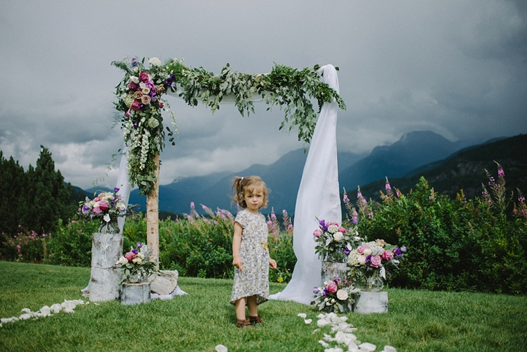 floral arch for whistler wedding
