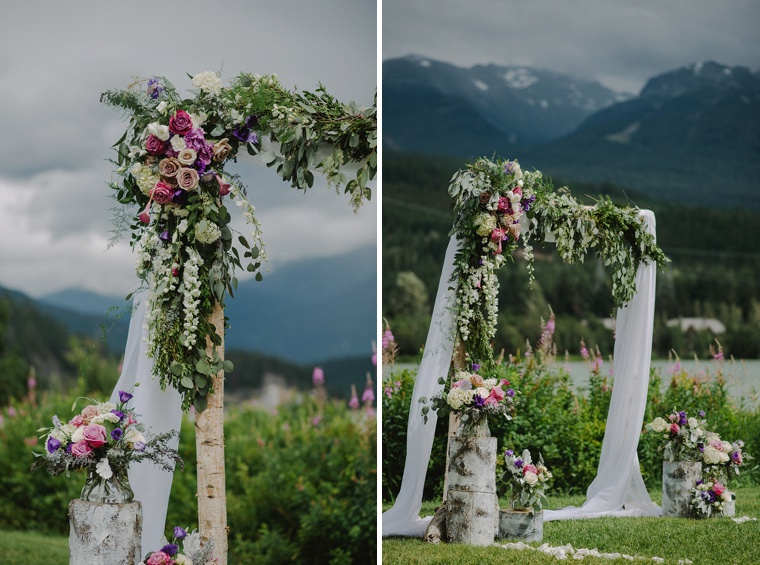 wildflower wedding arch