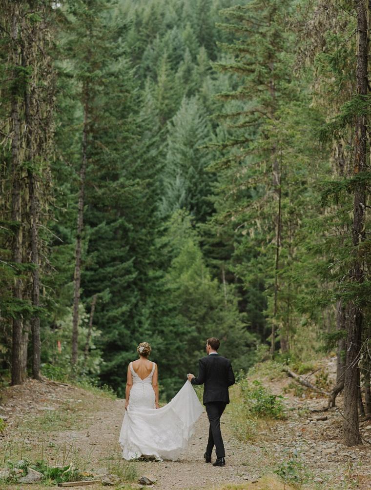 candid whistler wedding portrait