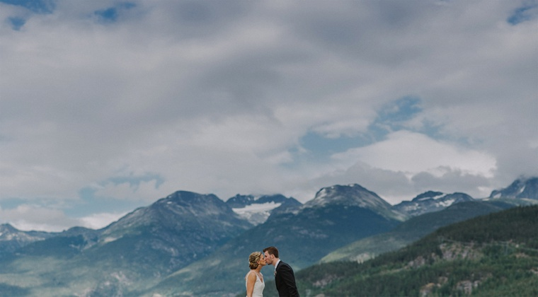 mountain top wedding in whistler