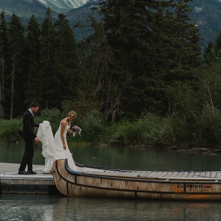 green lake wedding in whistler bc