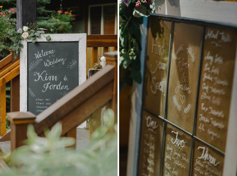 rustic mountain wedding details