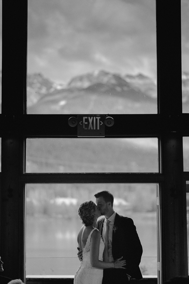 wedding portrait at a whistler lodge