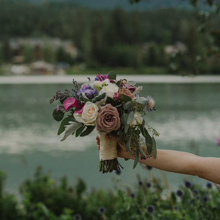 billies flower house wedding bouquet