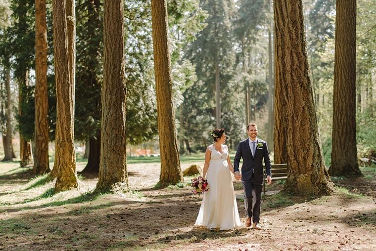 vancouver forest fine art wedding portrait