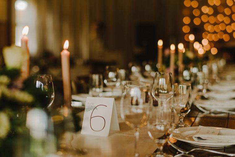 fern wedding table numbers