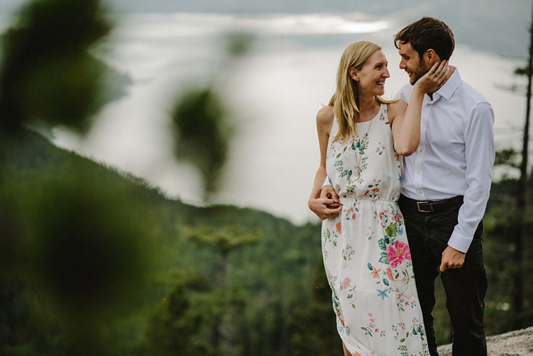 engagement session on squamish mountain