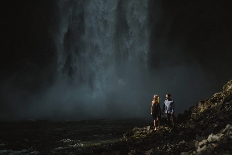 epic waterfall engagement