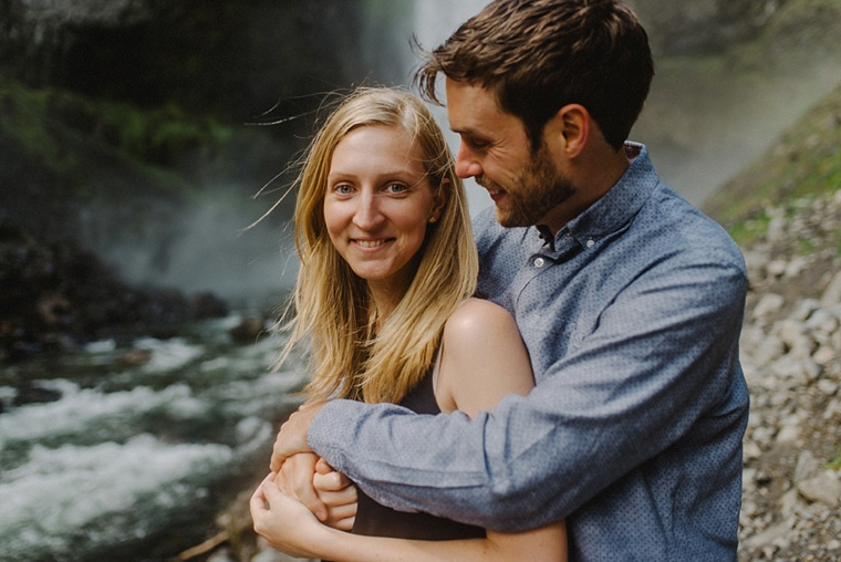 engagement portrait at brandywine falls