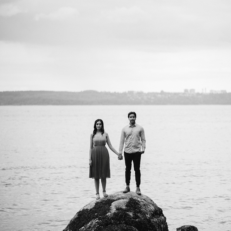 indian engagement session at lighthouse park