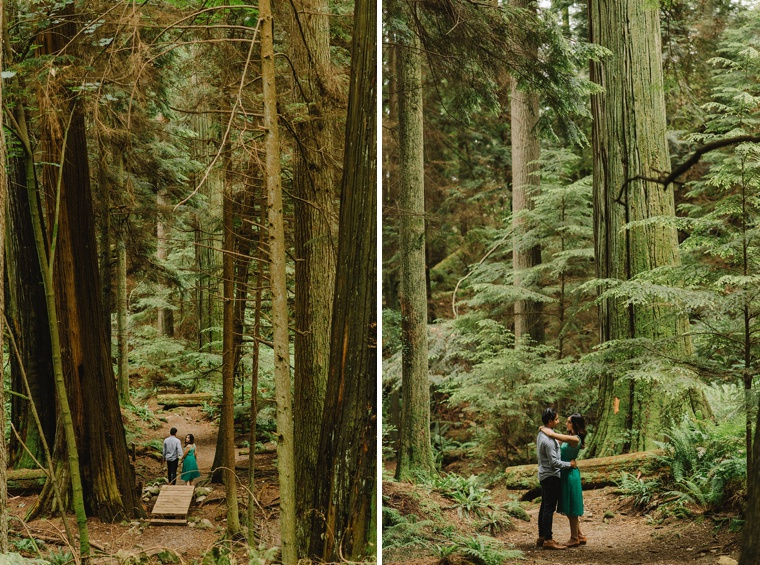 indian engagement session in the forest