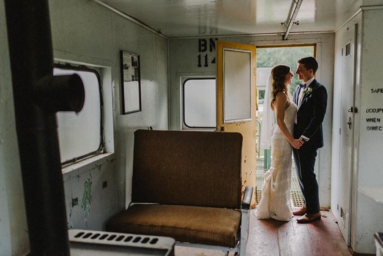 railway heritage park wedding portrait