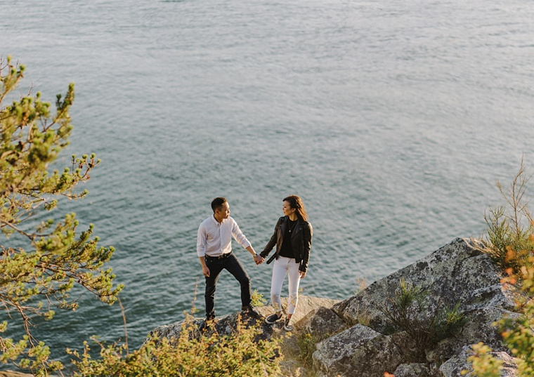 Sunset Engagement Photos At Whytecliff Park Vancouver And Destination Wedding Photographer