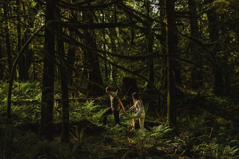 chilliwack forest engagement photos