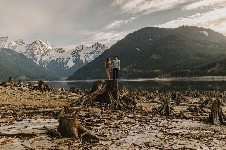 jones lake engagement session