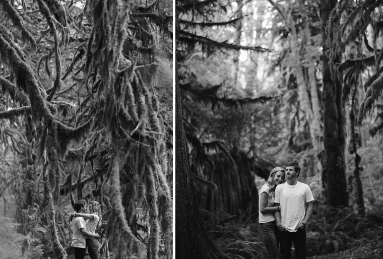 mossy forest engagement portraits