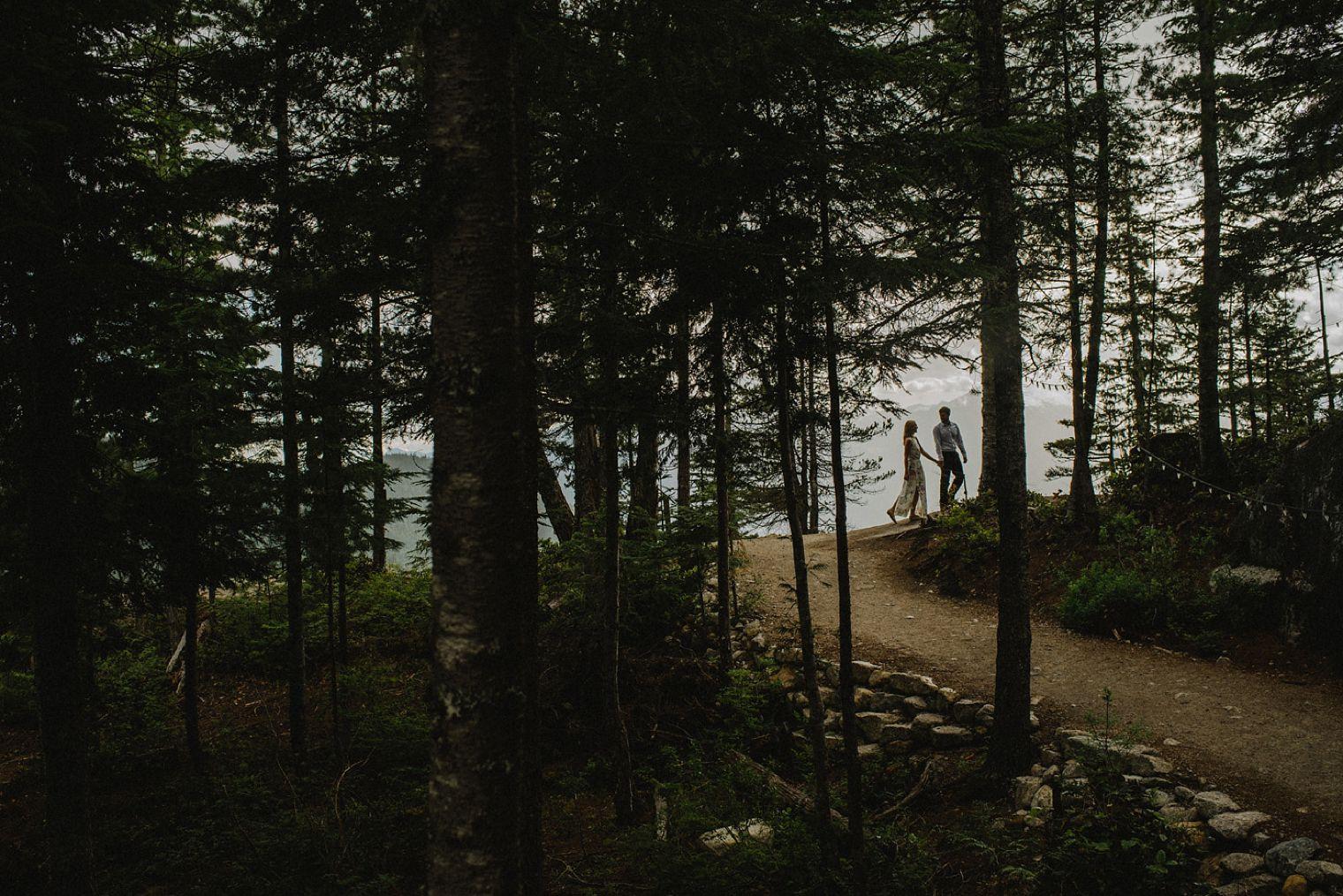 engagement session on squamish mountain