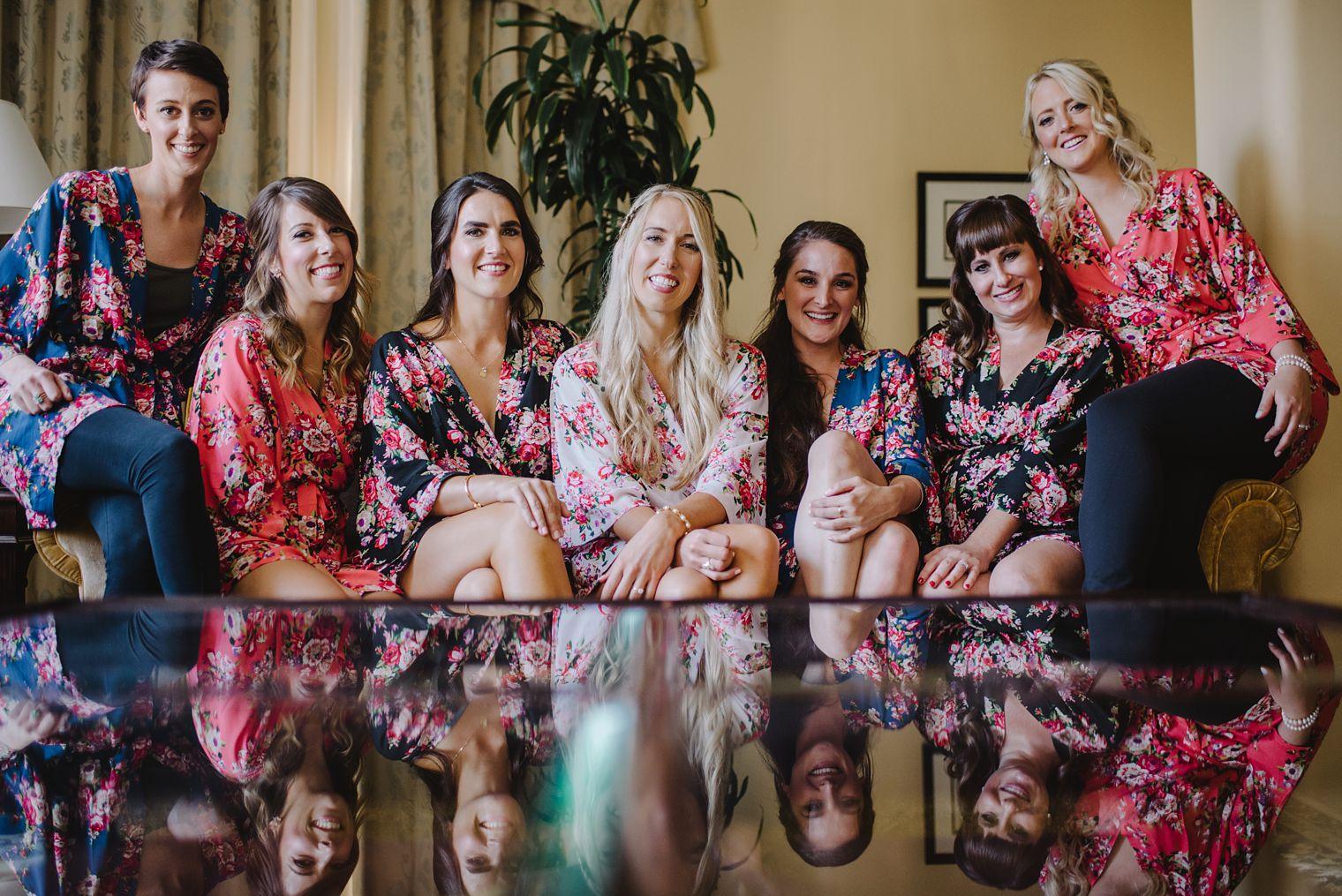 bridesmaids at hotel vancouver