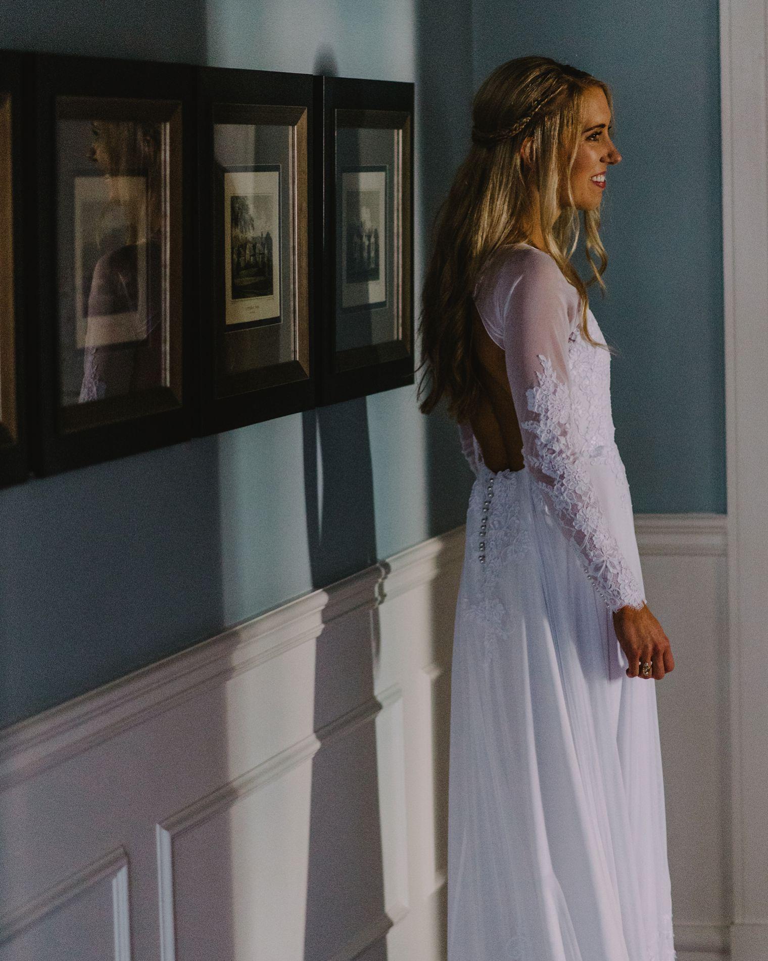 portrait of bride at hotel vancouver