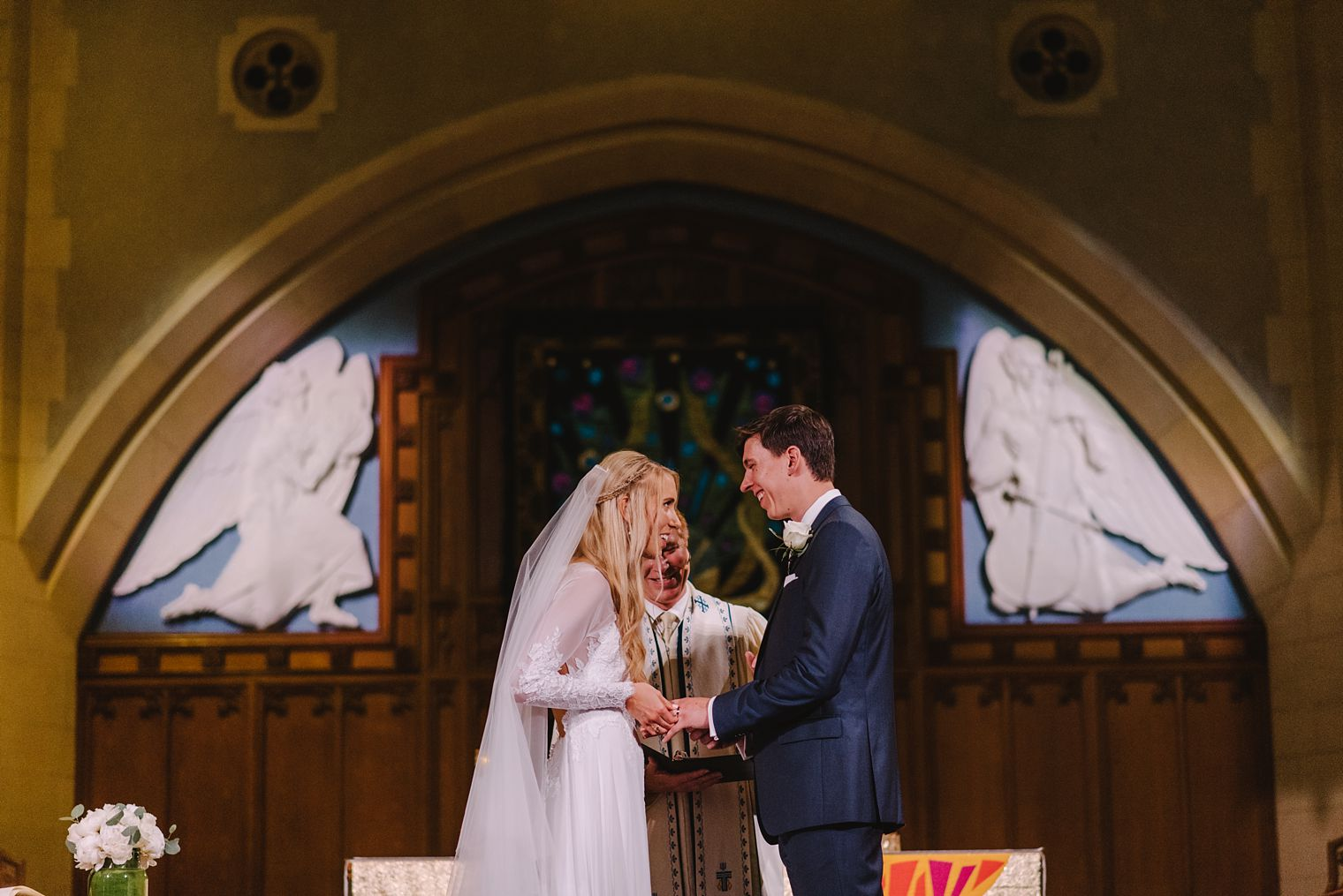 wedding ceremony at st andrews wesley united church