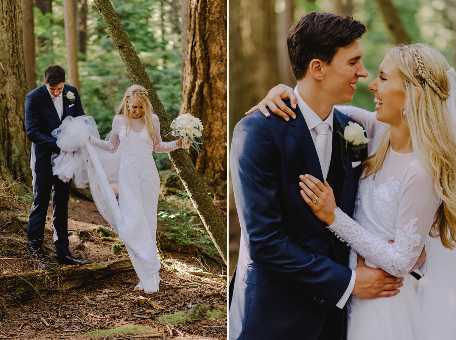 unique vancouver forest wedding photos
