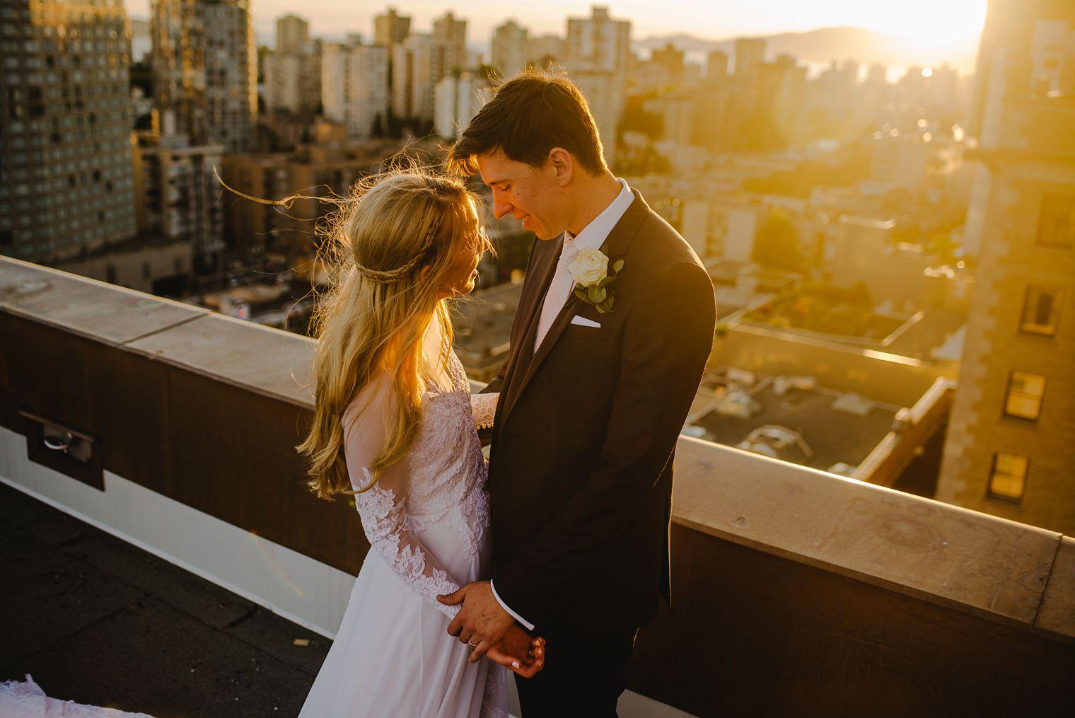 hotel vancouver rooftop wedding