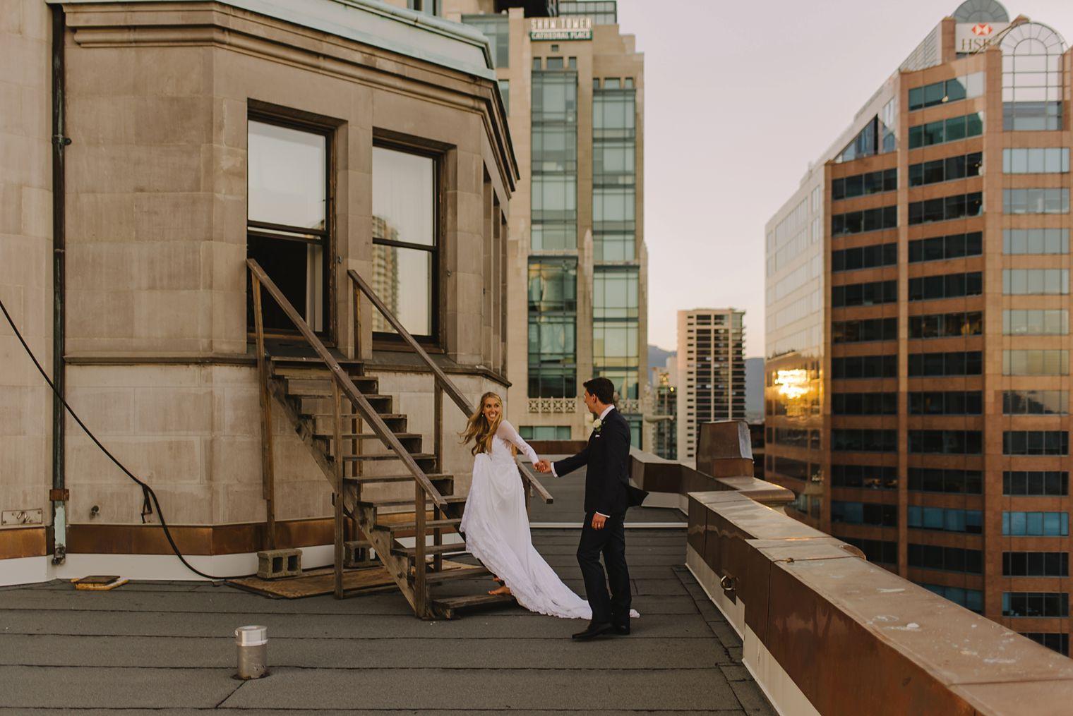 fairmont hotel vancouver rooftop wedding