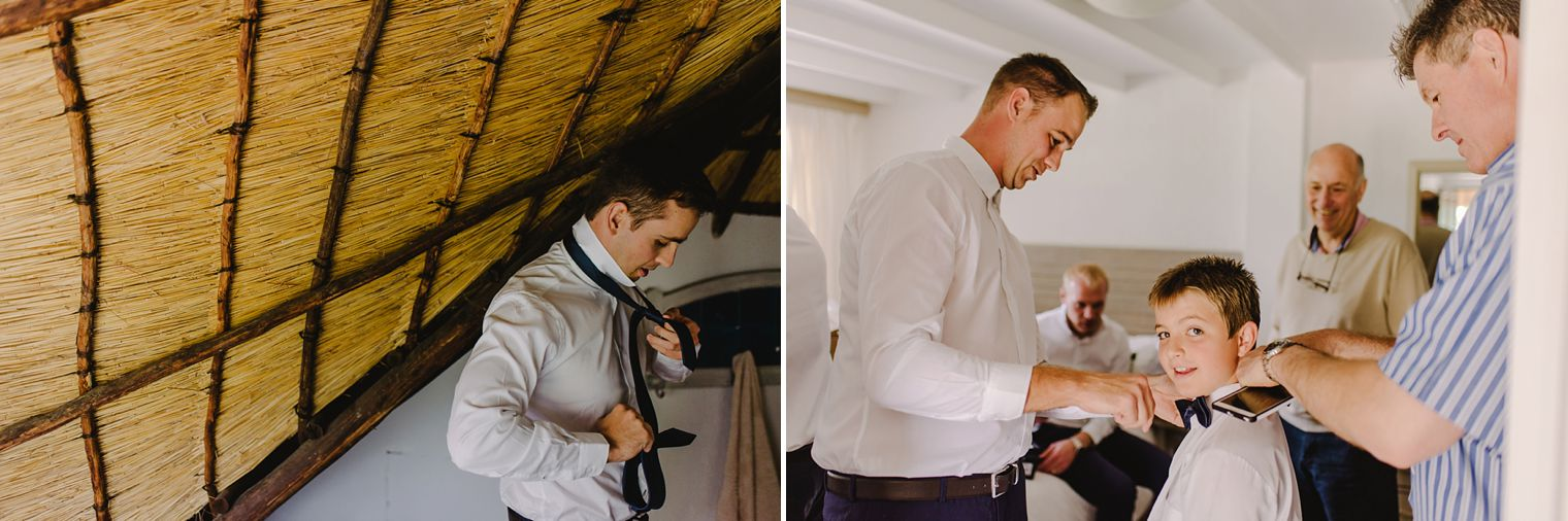 groom getting ready at kzn midlands wedding venue