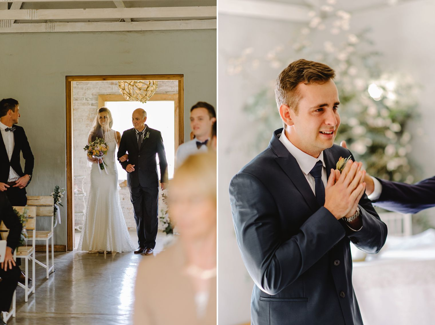 emotional south african groom
