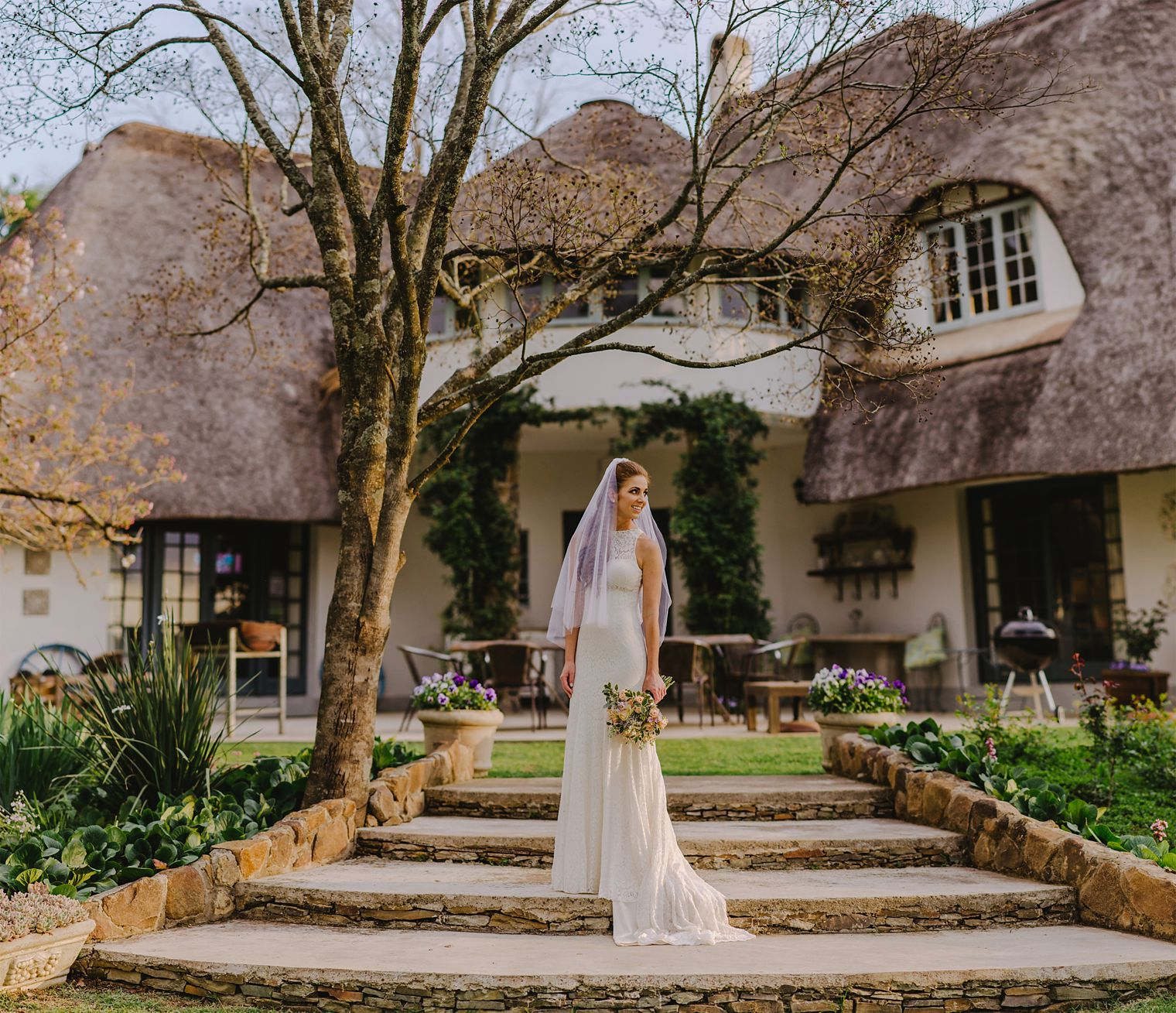 bride at orchards wedding venue in kzn