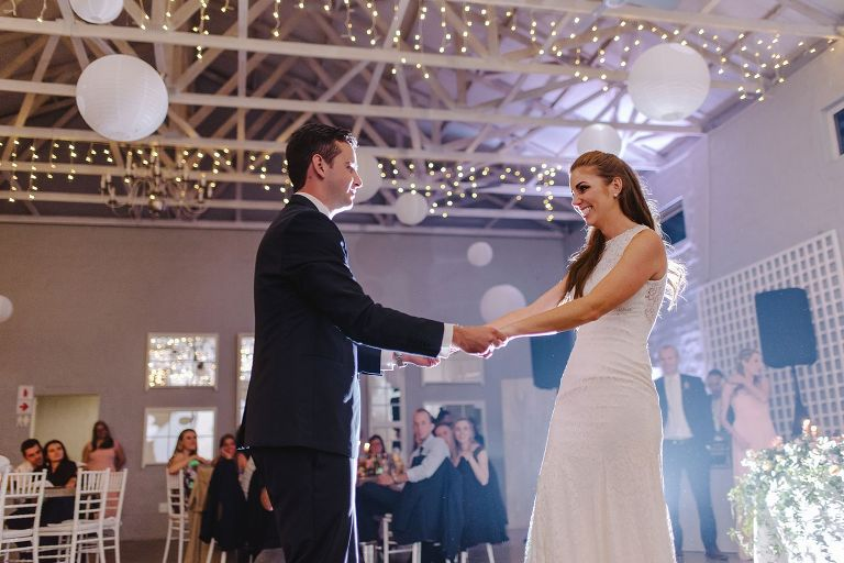 first dance at orchards wedding venue