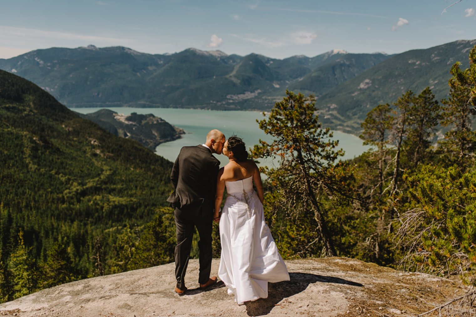 epic vancouver mountain wedding portrait