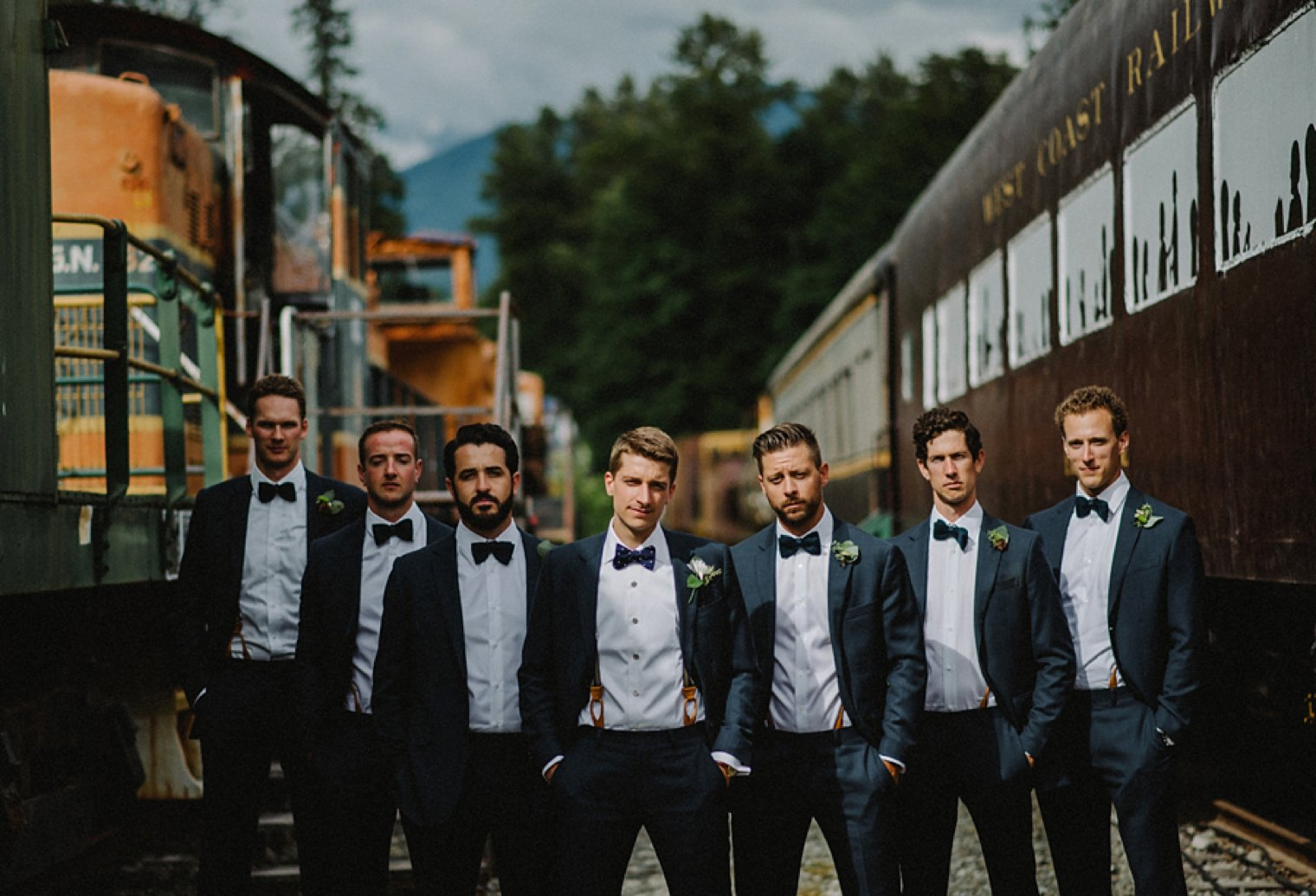 cool groomsmen portrait