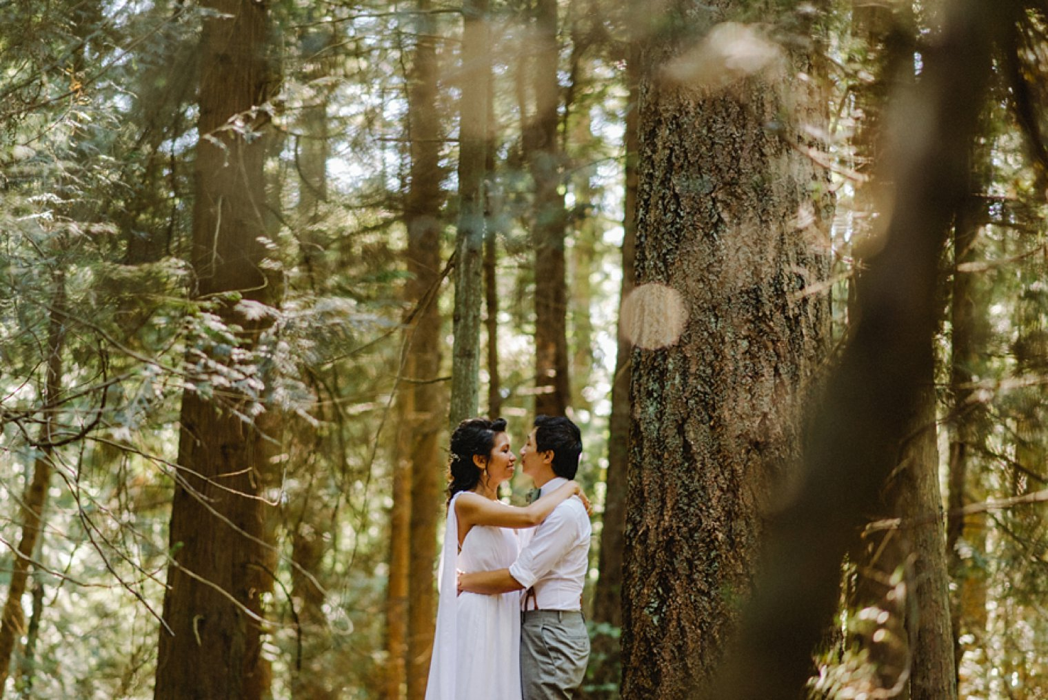 unique pacific spirit rim wedding